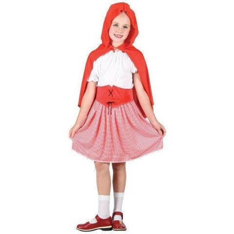 Girls Red Riding Hood Fancy Dress Costume (Age 8 - 10)